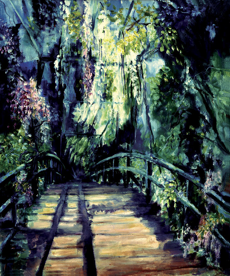 The Bridge Painting - The Bridge by Shari Silvey