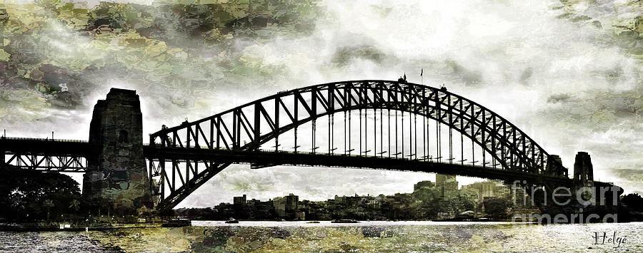 The Bridge Spattled Painting by HELGE Art Gallery
