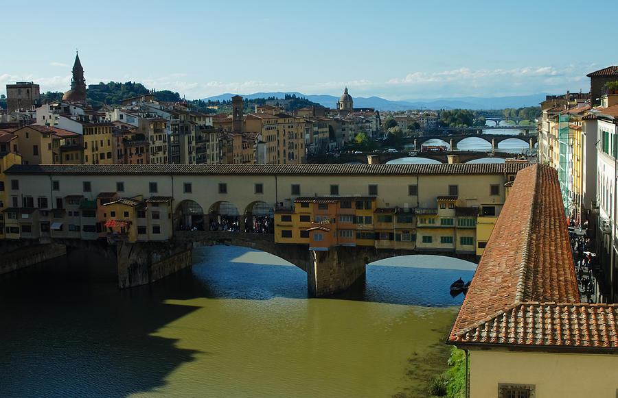 Ponte Vecchio Photograph - The Bridges Of Florence Italy by Georgia Mizuleva