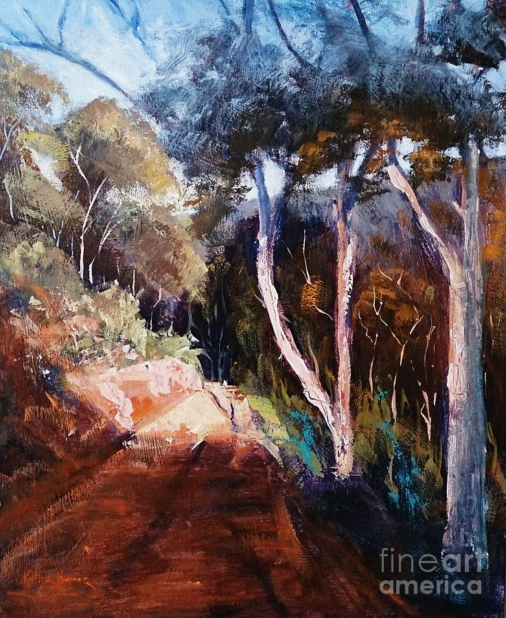 Landscape Painting - The Bridle Track by Kathy  Karas