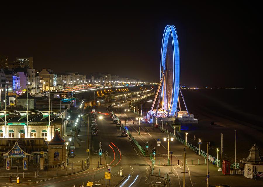 Ferris Wheel Photograph - The Brighton Wheel At Night by Dutourdumonde Photography