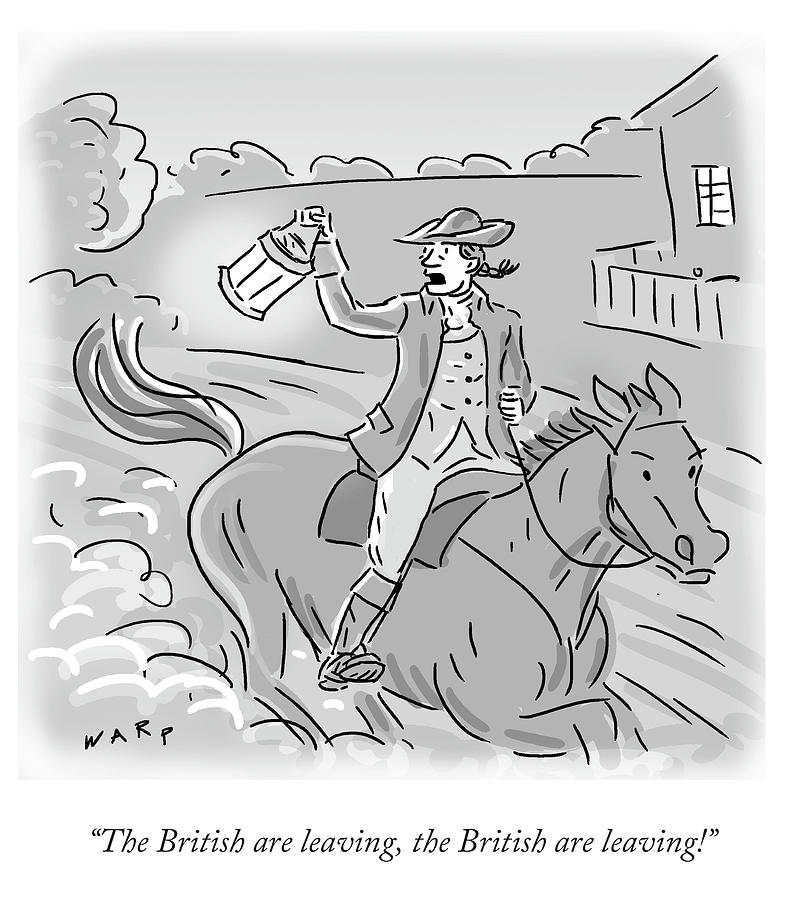 The British Are Leaving Drawing by Kim Warp