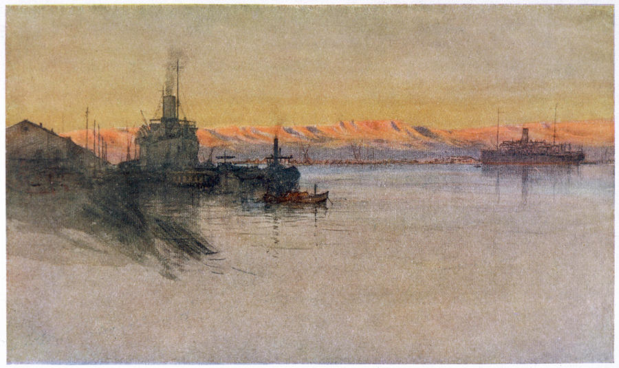 Wwi Drawing - The British Transport Ships  erma by Mary Evans Picture Library