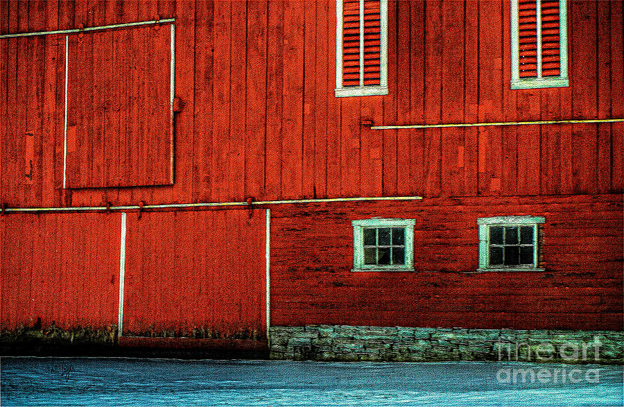 Barn Photograph - The Broad Side Of A Barn by Lois Bryan