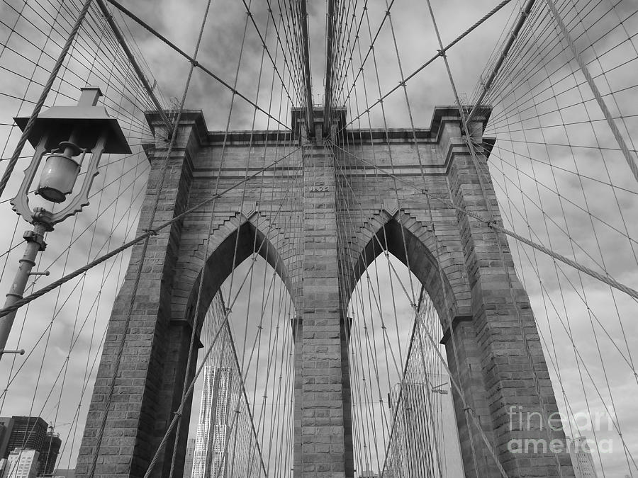 Brooklyn Bridge Photograph - The Brooklyn Bridge by Angie Gonzalez