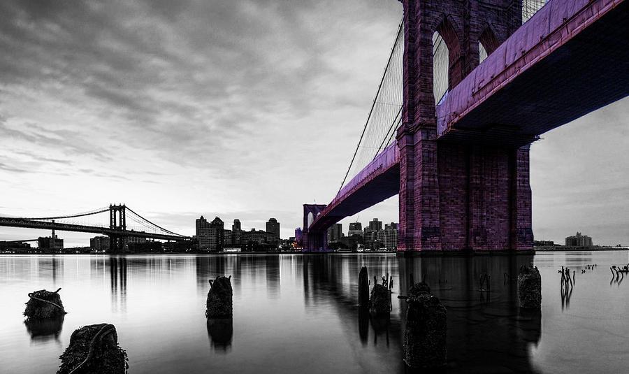 Brooklyn Bridge Photograph - The Brooklyn Bridge by Brian Reaves