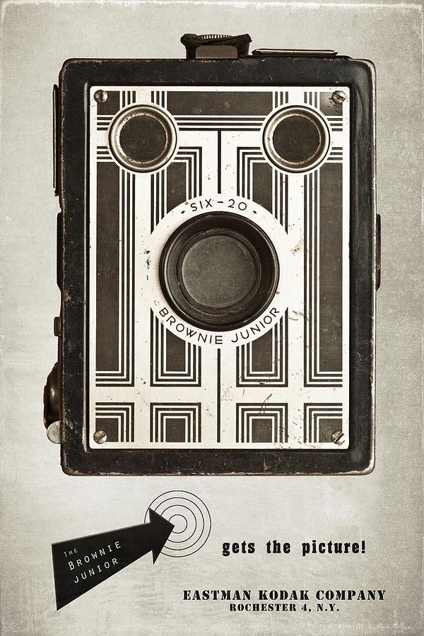 Antique Photograph - The Brownie Junior Six-20 Camera by Tom Mc Nemar