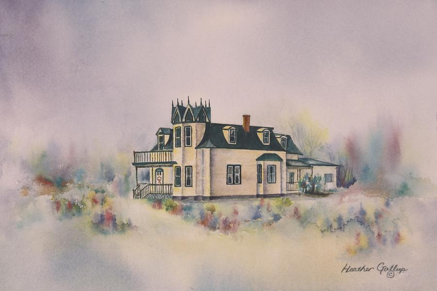 Georgian Style Painting - The Browns Residence by Heather Gallup