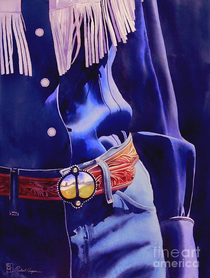 Watercolor Painting - The Buckle by Robert Hooper