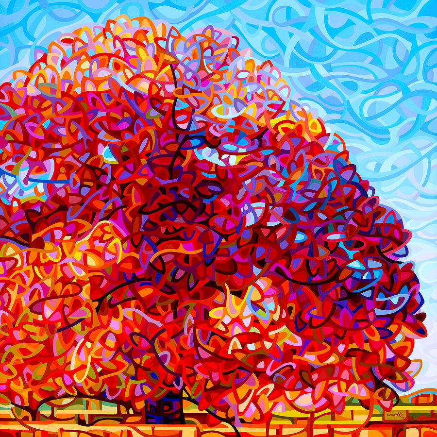 Painting Painting - The Buddha Tree by Mandy Budan