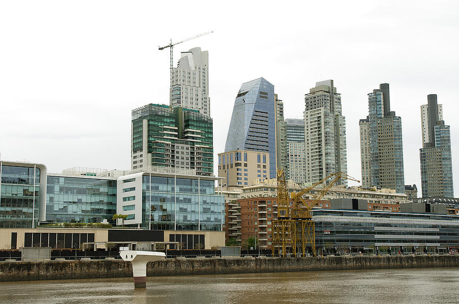 The Buenos Aires central business district Photograph by Jens Kuhfs