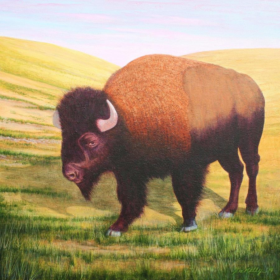 Buffalo Painting - The Buffalo by J W Kelly