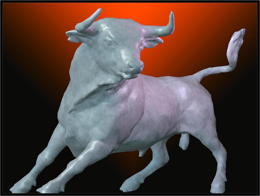 Portrait Digital Art - The Bull... by Tim Fillingim