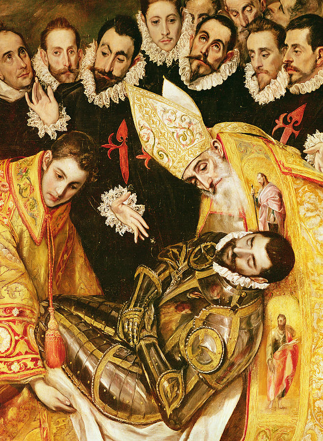 The Burial Of Count Orgaz Painting by El Greco Domenico ...