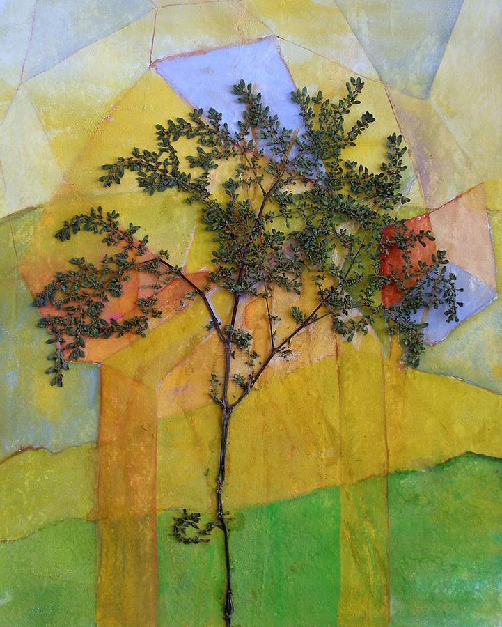 Organic Painting - The Burn - Panel II by Sandra Gail Teichmann-Hillesheim