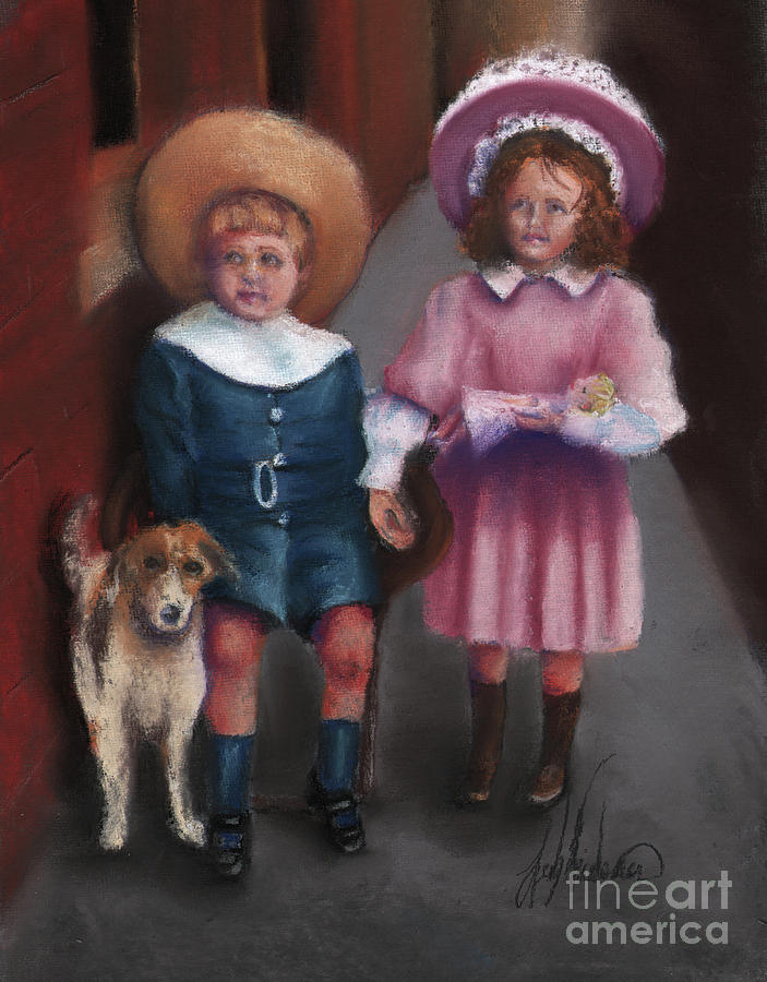 Children Pastel - The Buster Browns by Leah Wiedemer