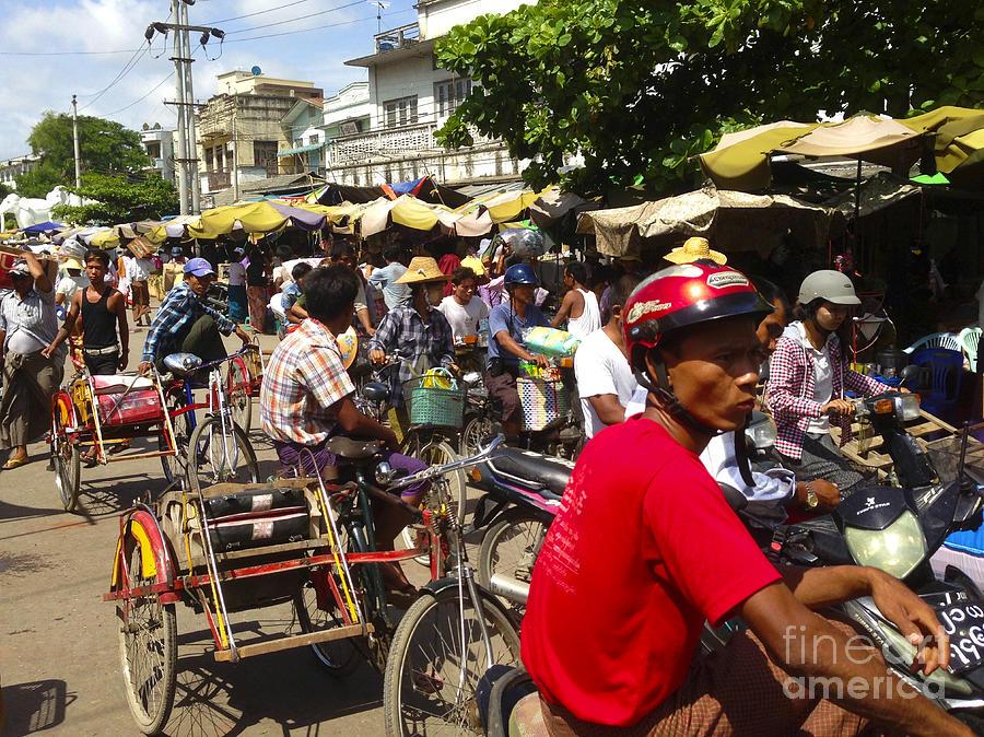 The Bustling Traffic on 27th Street Zay Cho Street Market Mandalay Burma by PIXELS  XPOSED Ralph A Ledergerber Photography