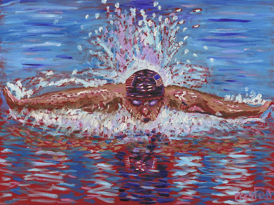 Swimming Painting - The Butterfly by Preston Sandlin