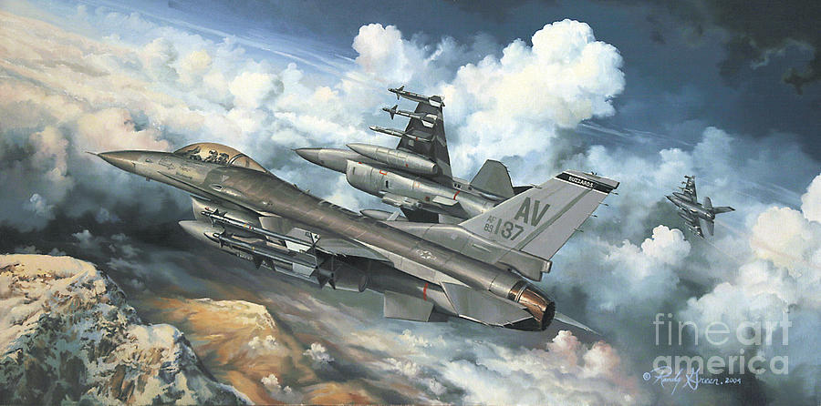 Prints Painting - The Buzzard Boys From Aviano by Randy Green