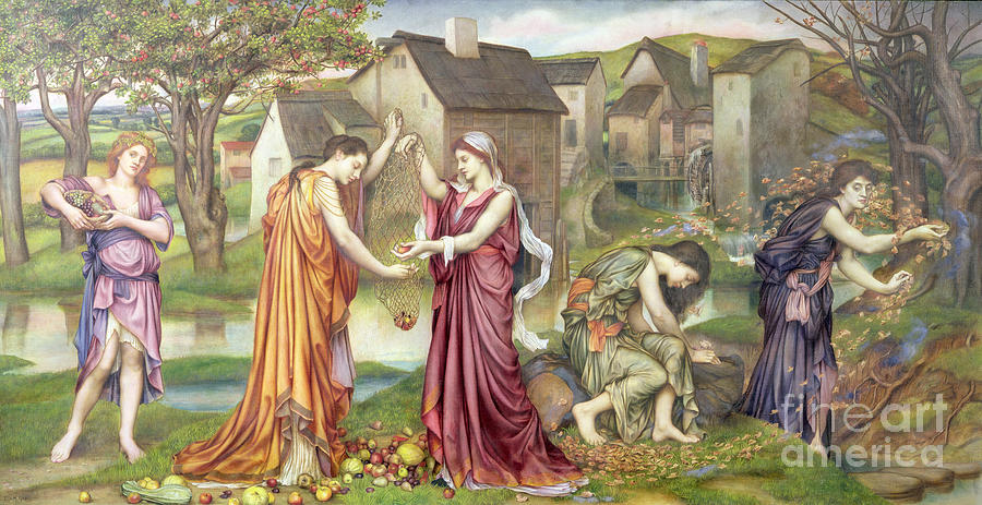 William Painting - The Cadence Of Autumn by Evelyn De Morgan