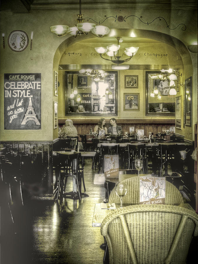 Cafe Photograph - The Cafe by Janet Meehan