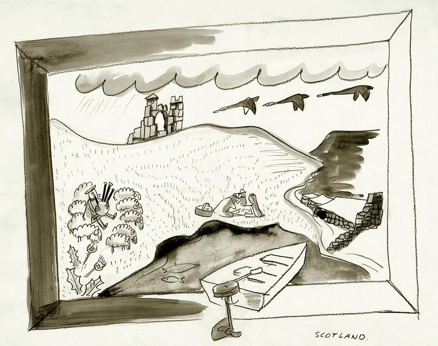 The Caledonian Canal In Scotland Digital Art by Ludwig Bemelmans