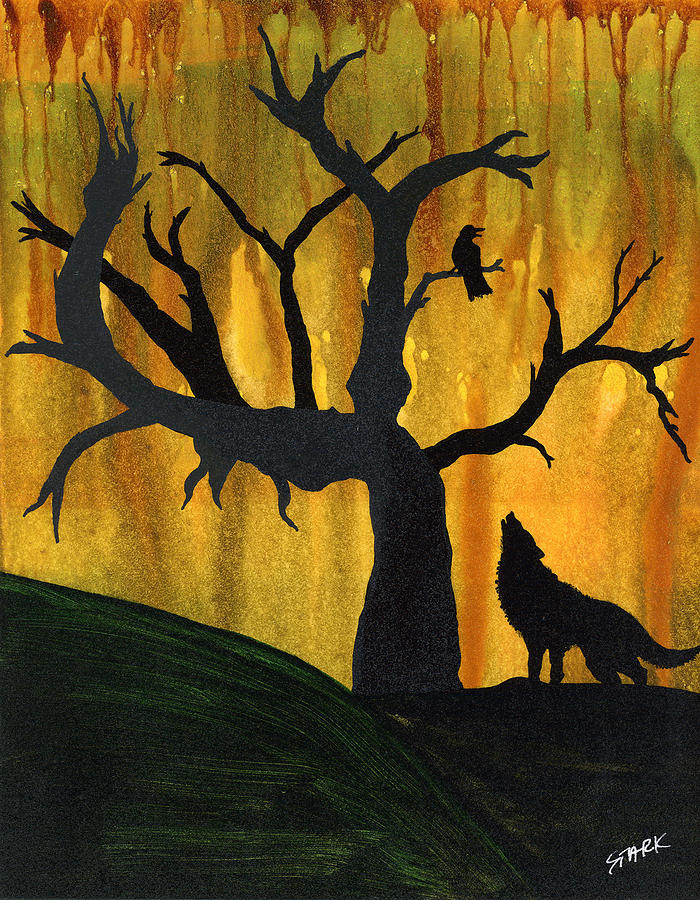Trees Painting - The Call And Response Of The Wild by Jim Stark