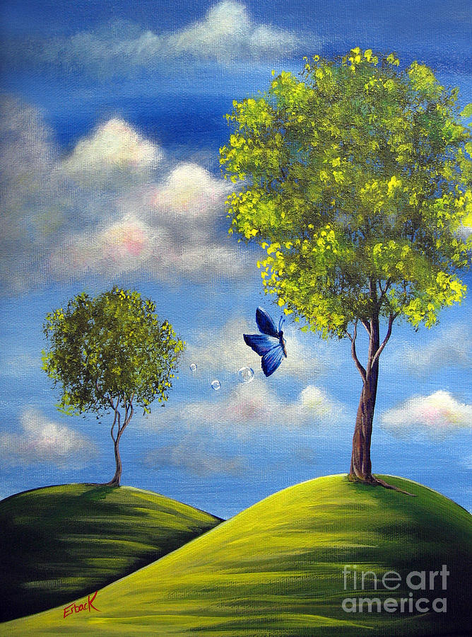 Butterfly Painting - The Call Of Spring By Shawna Erback by Shawna Erback
