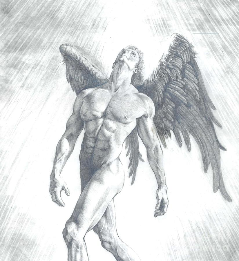 Nude angel sketch