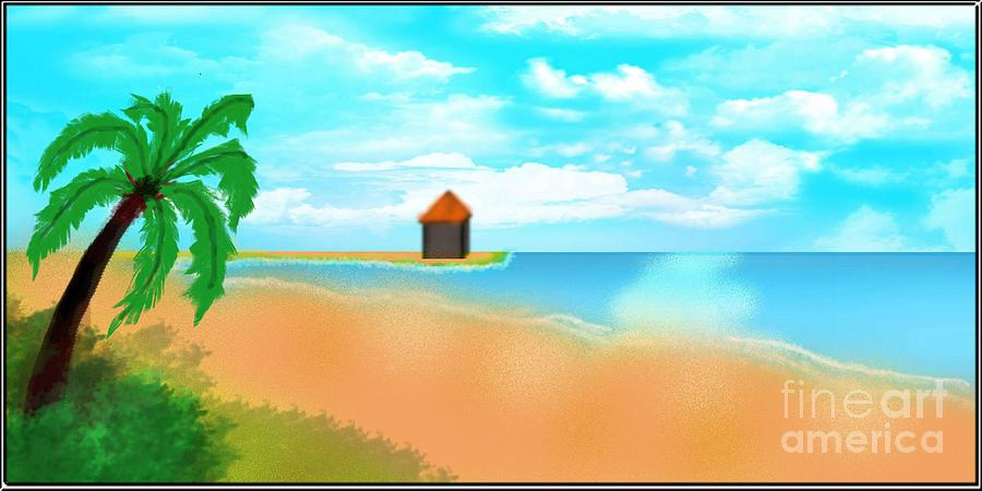 Beach Digital Art - The Calm Coast by Sheikh Designs