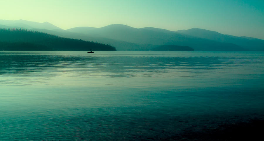 Boathouse Photograph - The Calmness Of Priest Lake by David Patterson