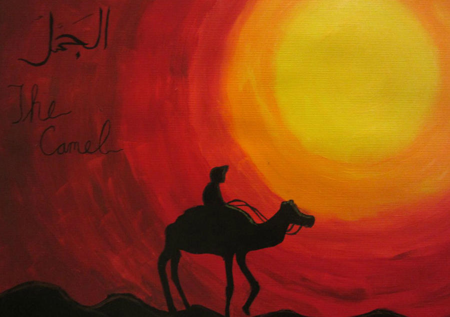 Camel Painting - The Camel by Haleema Nuredeen