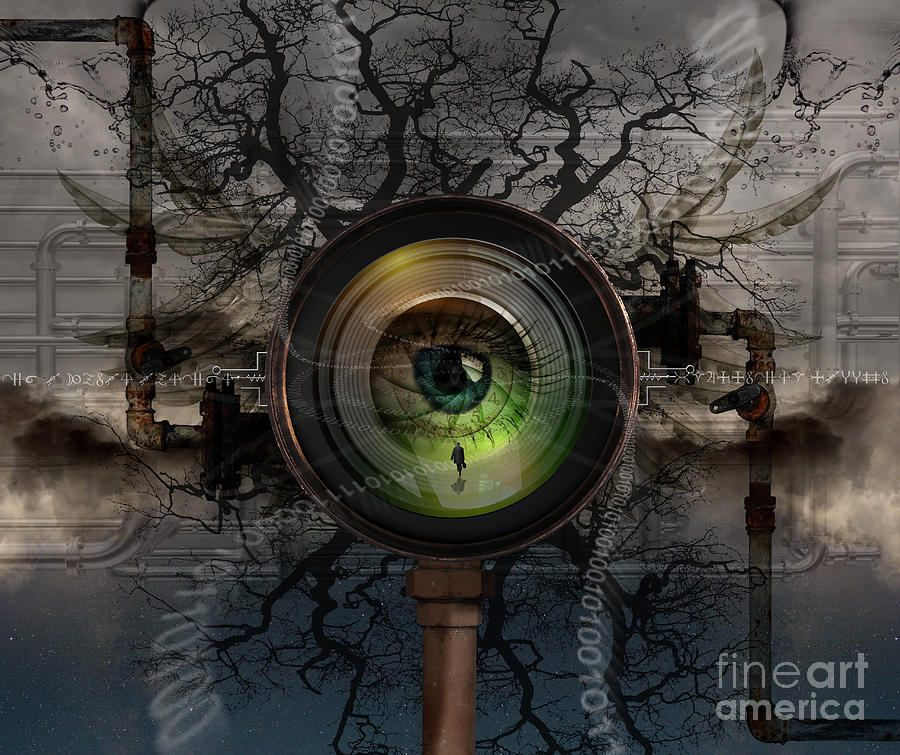 Steampunk Photograph - The Camera Eye by Keith Kapple