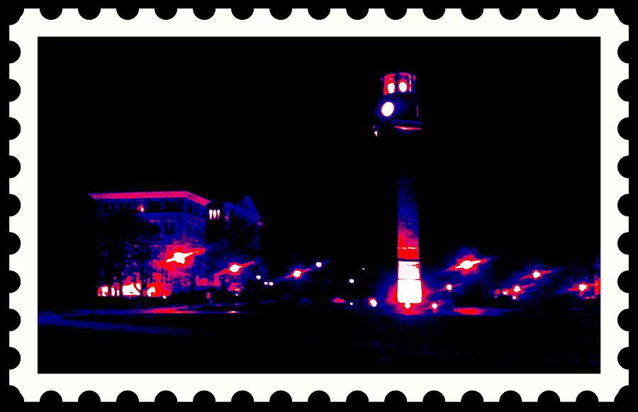 Purple Photograph - The Campus At Night by Art Speakman