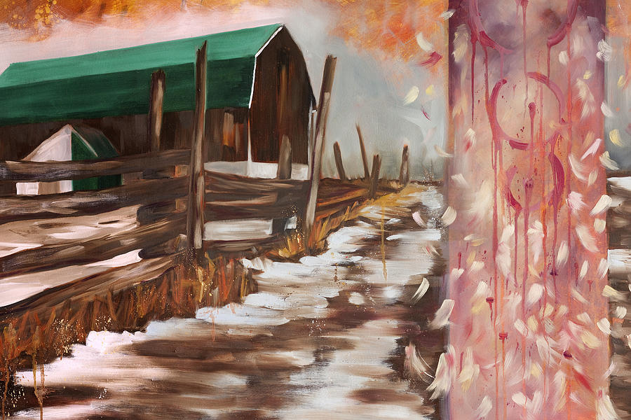 Barn Painting - The Canadian Dream by Emma Caldwell