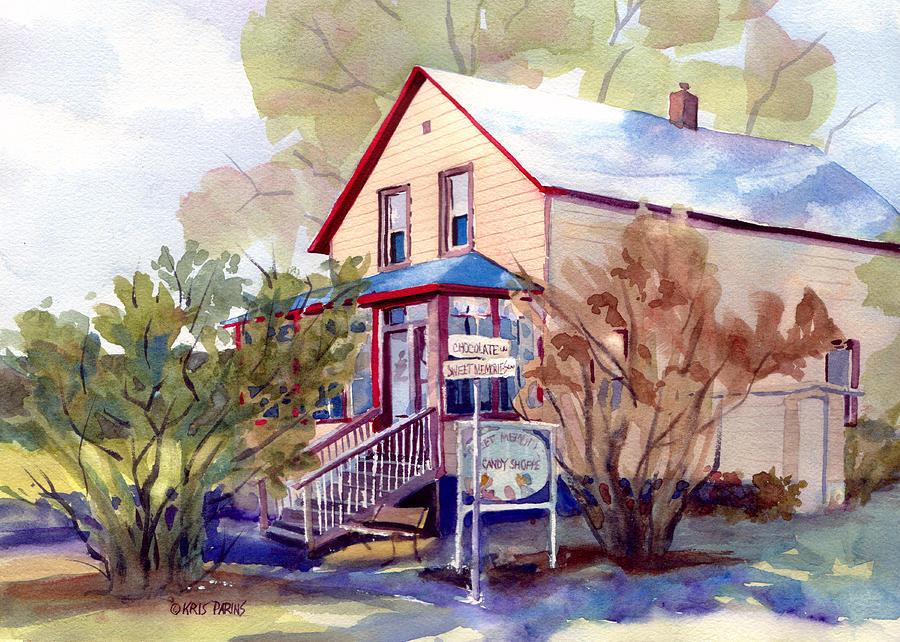 Kris Parins Painting - The Candy Shoppe by Kris Parins