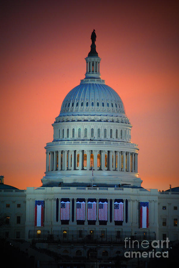 The Capitol Dome Rise Photograph