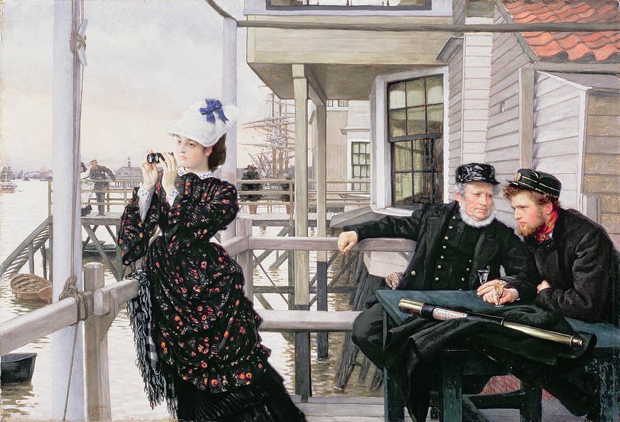 Binoculars Painting - The Captains Daughter by James Jacques Joseph Tissot