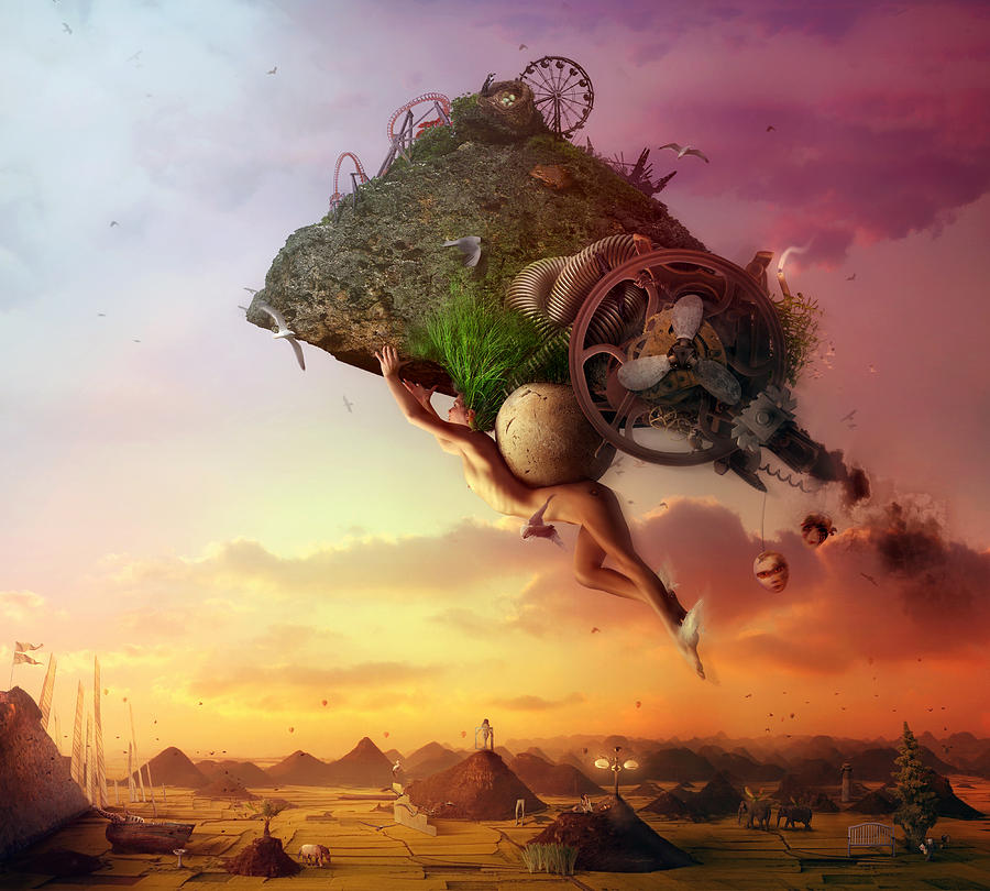 Flying Digital Art - The Carnival Is Over by Mario Sanchez Nevado