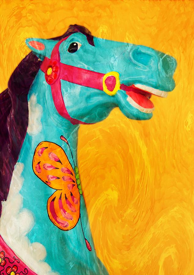 Carousel Horse Mixed Media - The Carousel Horse by Bob Pardue