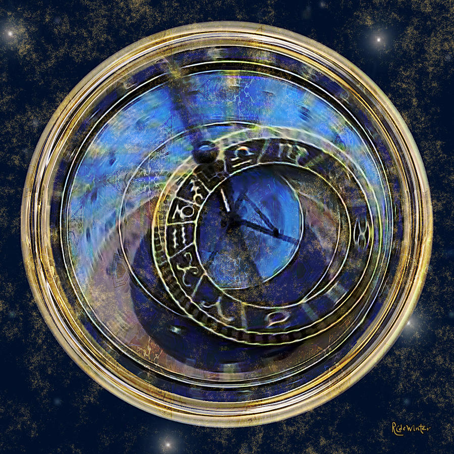 Clock Painting - The Carousel Of Time by RC deWinter