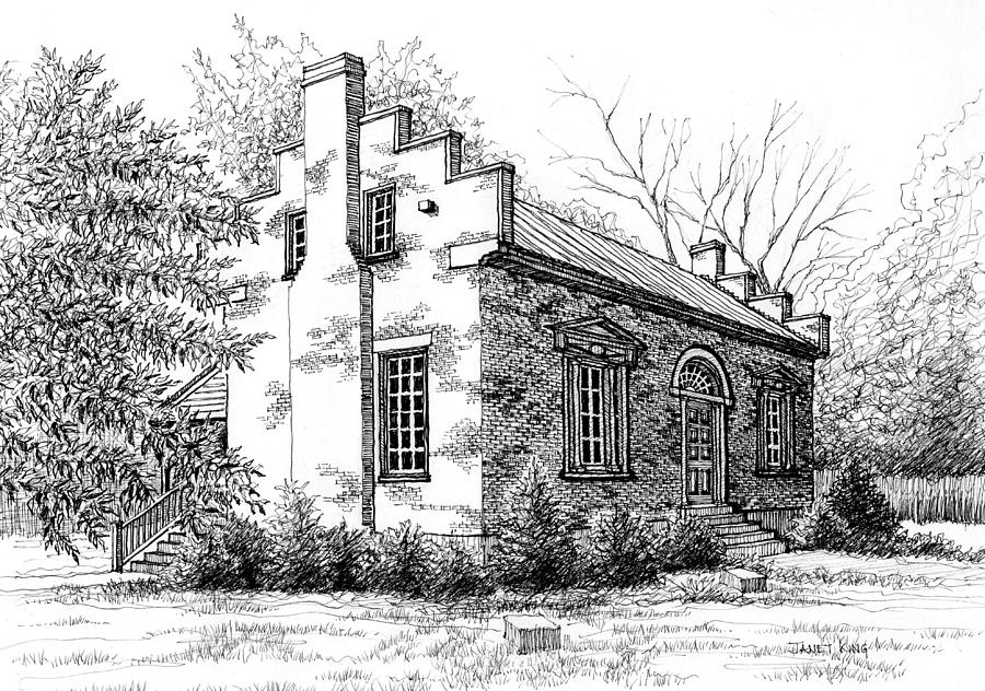 Carter House Drawing - The Carter House In Franklin Tennessee by Janet King