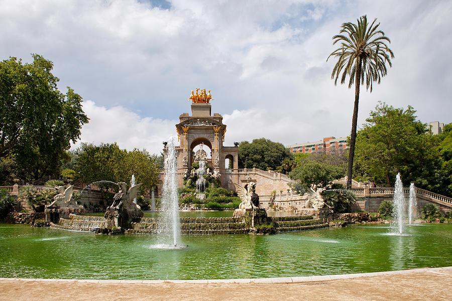 Ciutadella Photograph - The Cascada In Ciutadella Park In Barcelona by Artur Bogacki