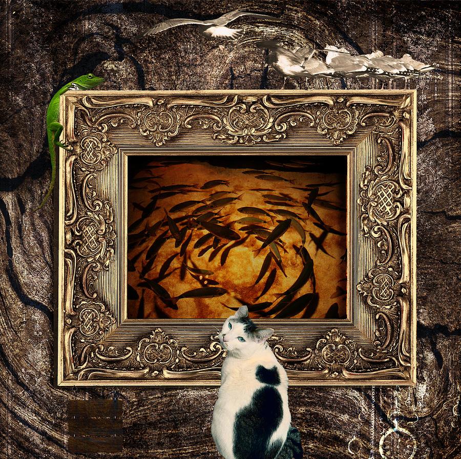 Cat Digital Art - The Cat by Elena Mussi