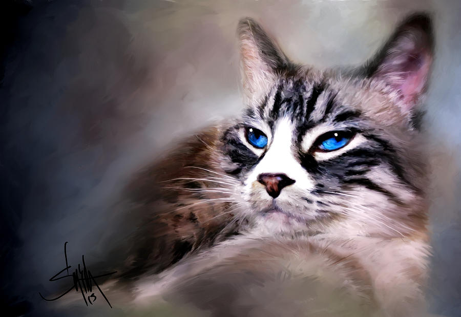 Cat Painting - The Cat by Robert Smith