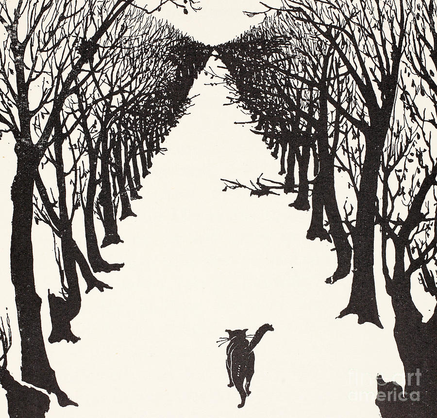 Illustration Painting - The Cat that Walked by Himself by Rudyard Kipling