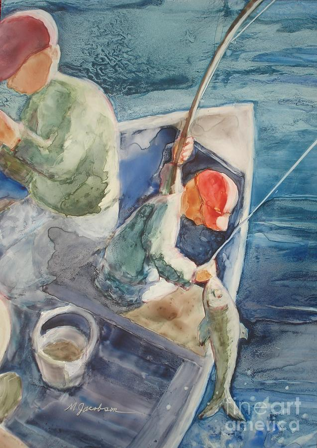 Boys Painting - The Catch by Marilyn Jacobson