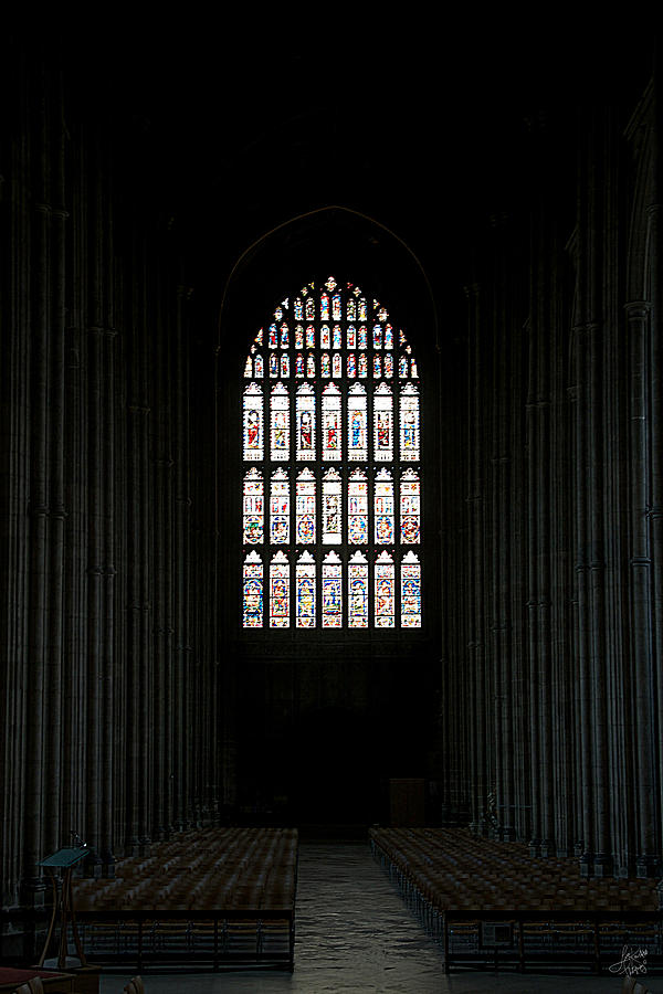 Night Photograph - The Cathedral Sits Empty by Lisa Knechtel