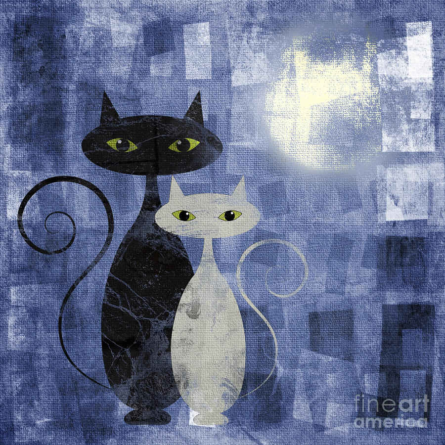Cat Digital Art - The Cats by Jelena Jovanovic