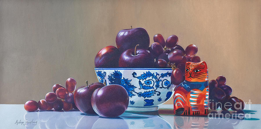 Still Life Painting - The Cats Meow by Arlene Steinberg